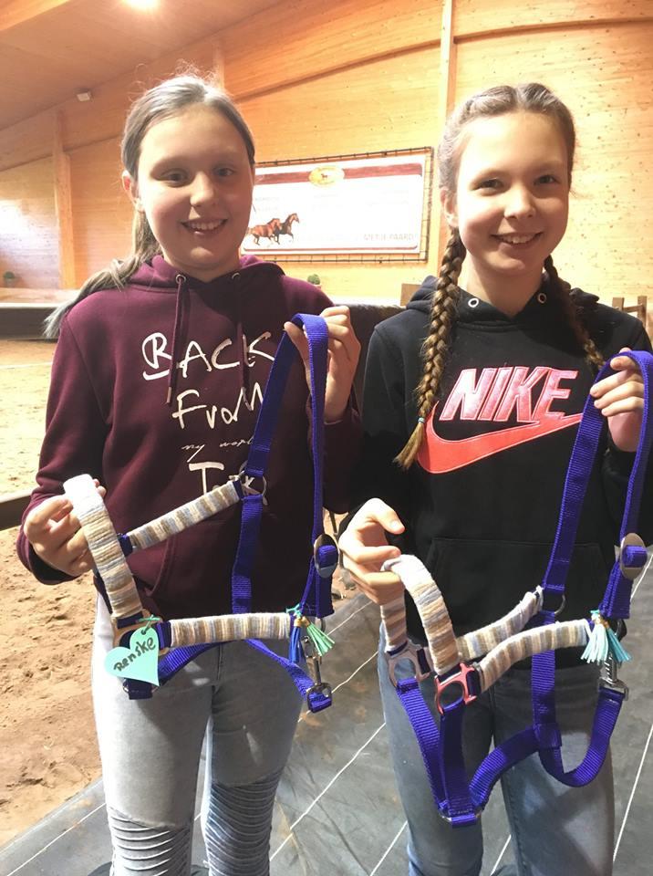 Halster maken kinderfeestje met paarden
